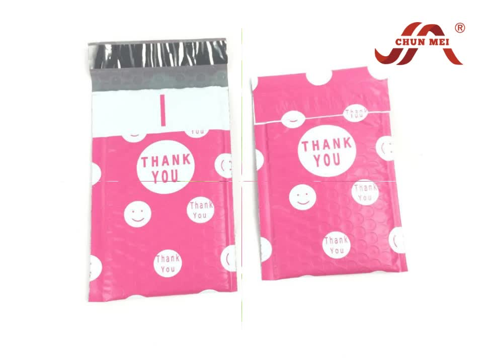 Factory Custom Printed Poly Bubble Mailers plastic mailing bubble envelope
