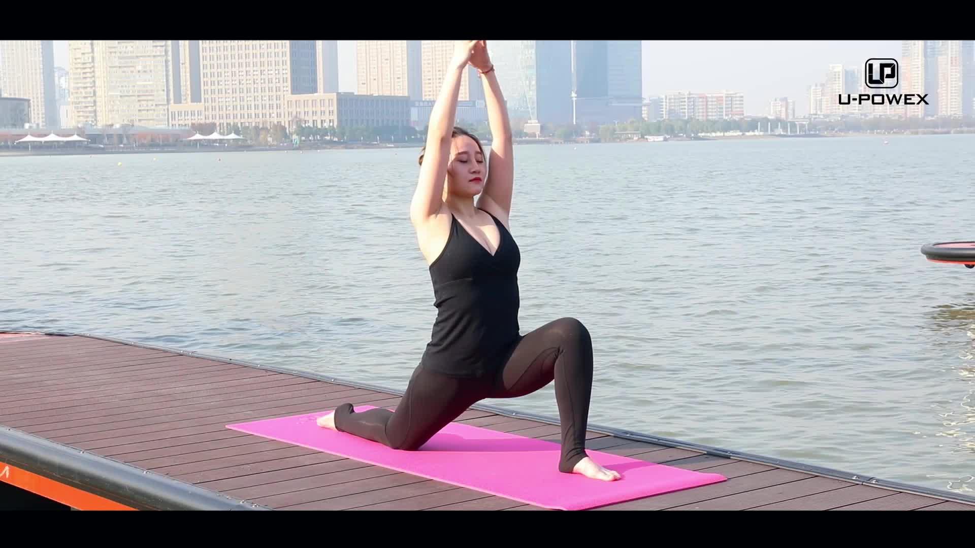 Angepasst farbe druck nicht-slip matte workout fitness matte druck pvc yoga matte