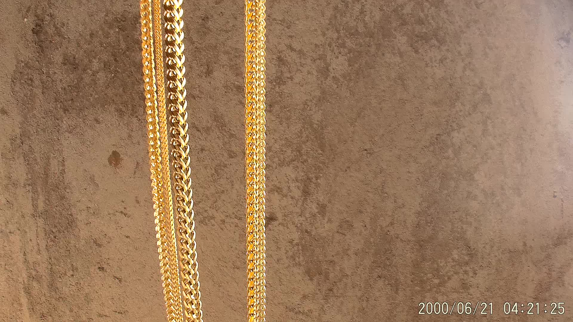 Miss Jewelry New Men's Lobster Clasp Gold Thin Chain Necklace Design in Dubai 14k 18k Gold Link Franco Chain