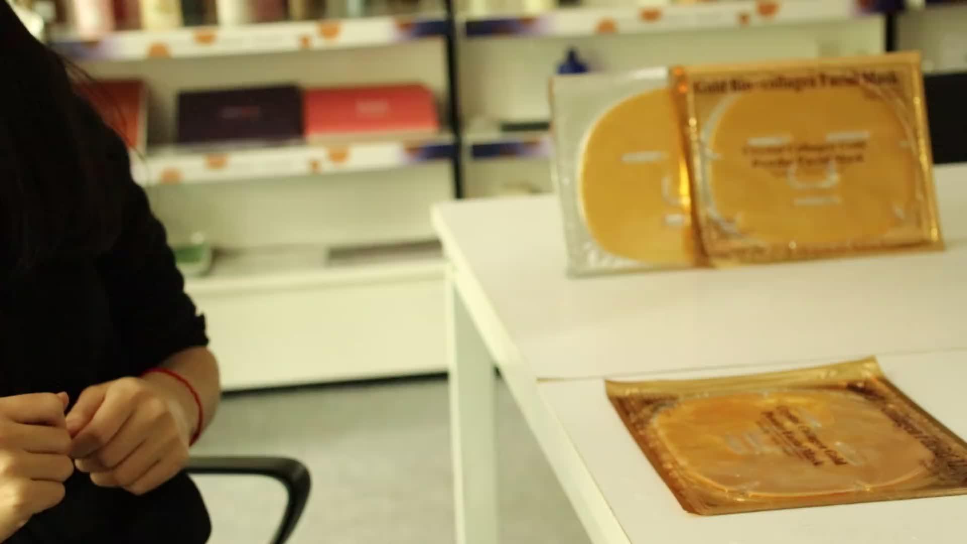 Private label huidverzorging facial 24 k gold bio-collageen gouden gezichtsmasker