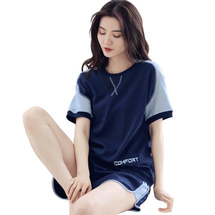 朵婷运动夏季纯棉短袖可外穿睡衣