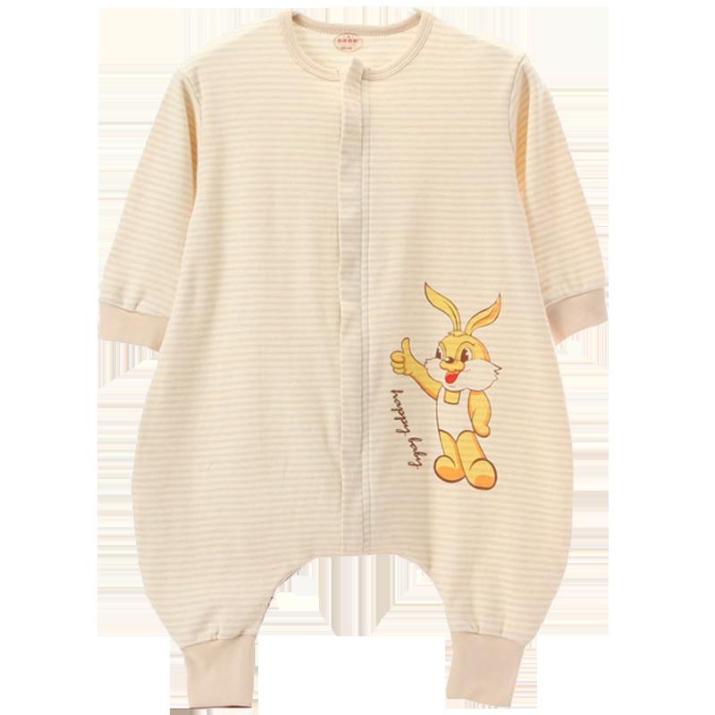 婴儿睡袋春秋薄款彩棉分腿宝宝睡袋空调房纯棉婴幼儿童夏季防踢被