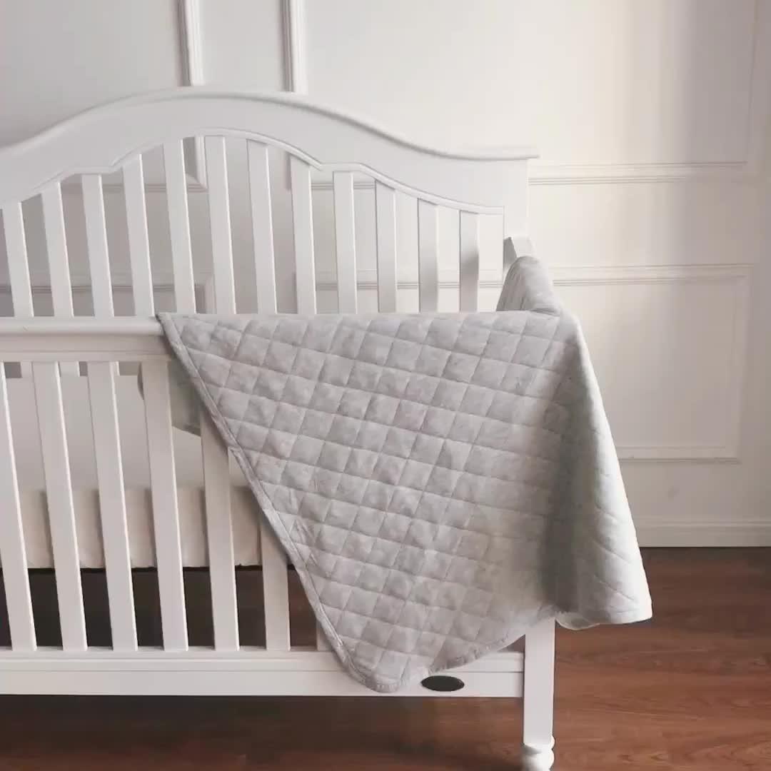 100% सांस ग्रे जर्सी कपास कंबल कार्बनिक बच्चे को कंबल