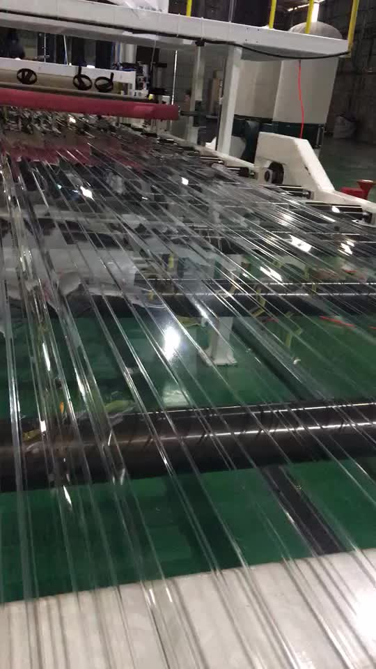 glass alike substitution of glass plastic roof sheets