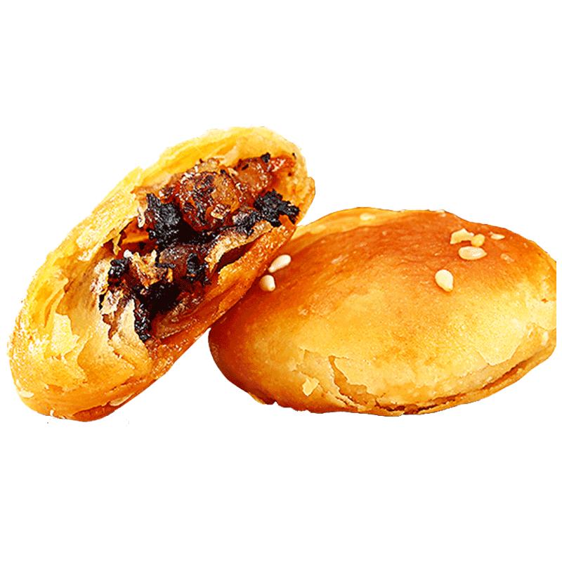 胡兴堂黄山烧饼安徽特产糕点梅干菜扣肉酥饼休闲小吃网红零食食品