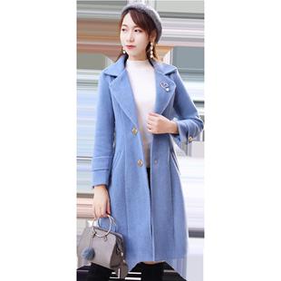毛呢外套2019秋冬季新款韩版修身