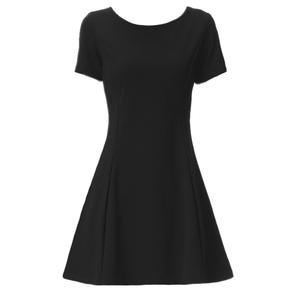 2021小韩版夏季新款修身显瘦潮黑裙