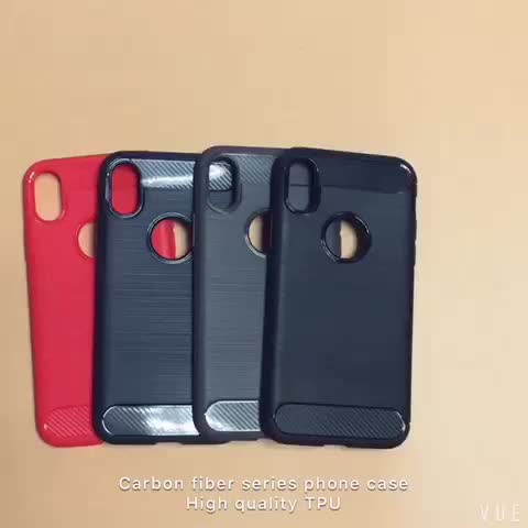 IN STOCK High Quality 360 tpu shockproof protective TPU cover carbon fiber case for iPhone 6 7 8 plus X XS