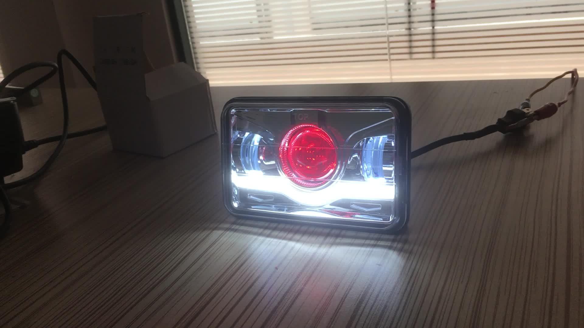 Venta al por mayor recambio 4X6 6x7 5x7 ''proyector LED faro cuadrado 4x6 pulgadas LED faro para camión