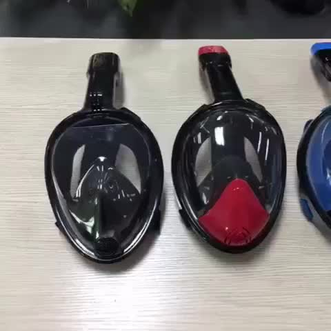2017 hot sales silicone free breath full face mask diving set