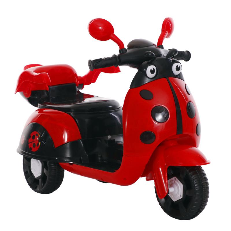 电动摩托车大号宝宝可坐充电三轮车