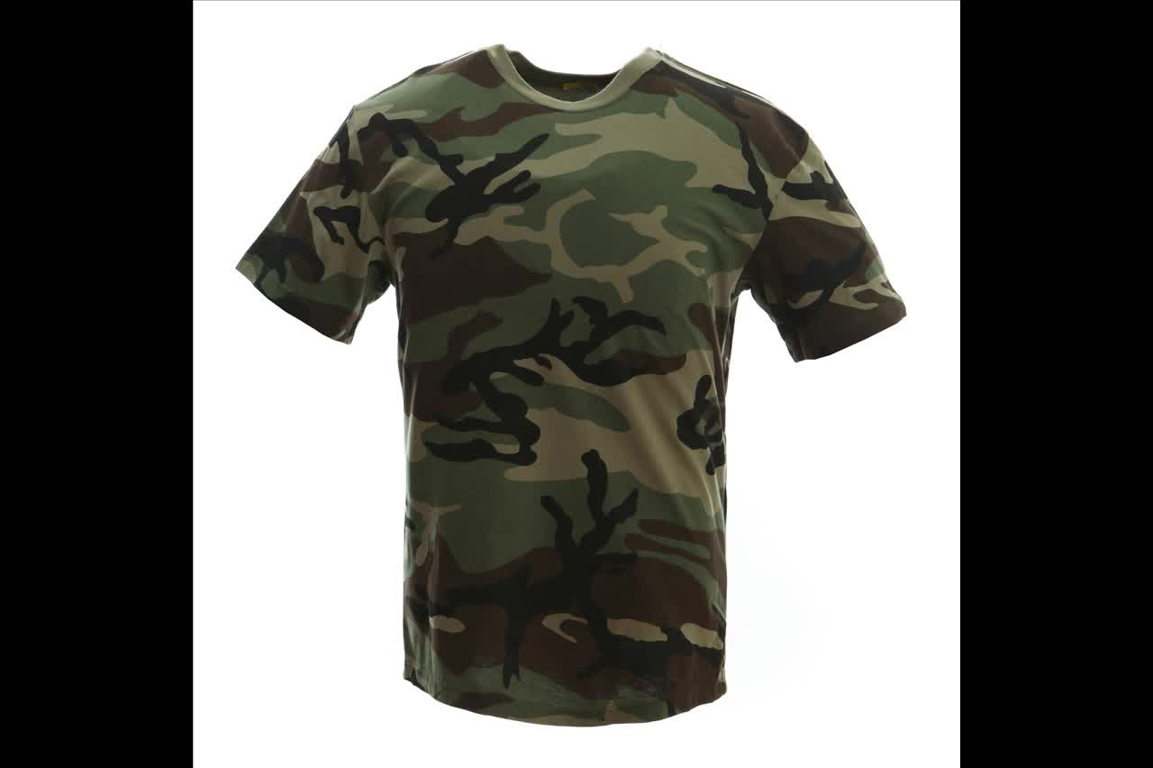 High quality wholesale army green blank camo t shirts Bulk quality t shirts