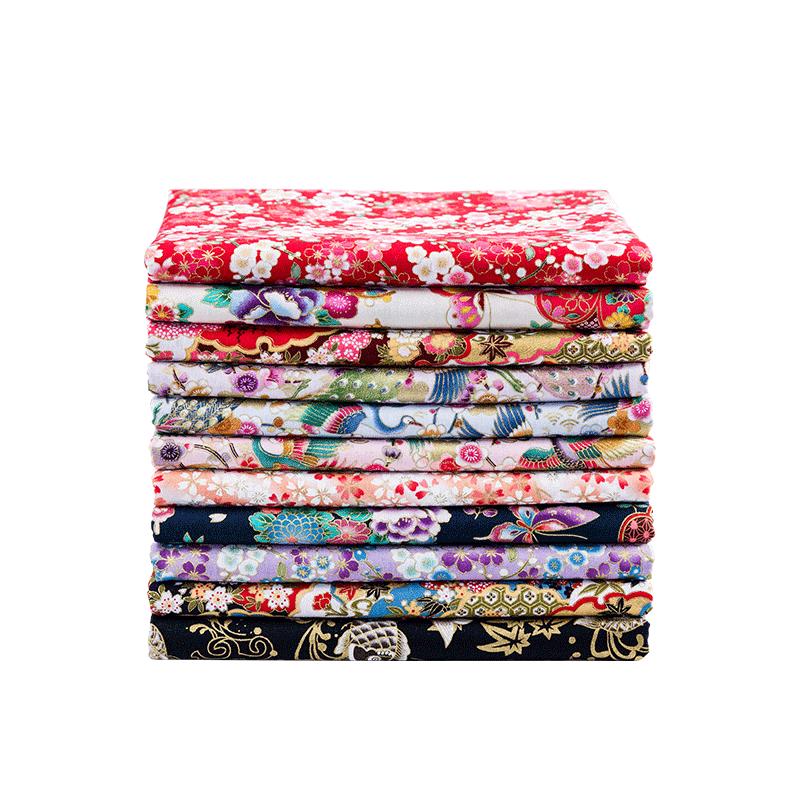 和风烫金布料日式日本全棉印花拼布diy中国风汉服服装面料棉布