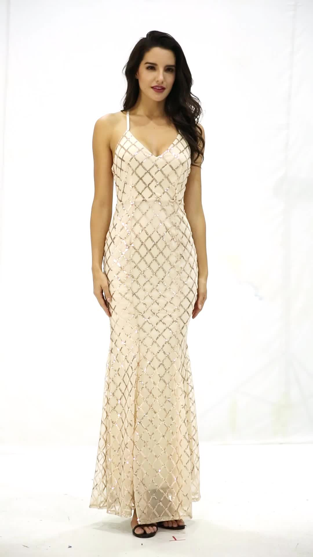 Hot Sale Maxi Evening Gown Long Sleeve Lace Night Dress Mermaid Gown ...