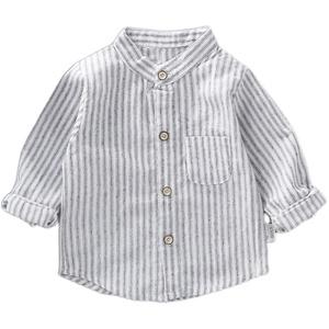 男童长袖春秋新款洋气格子韩版衬衫