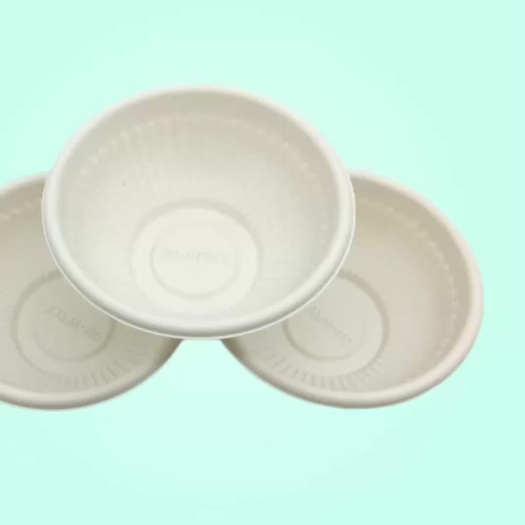 hefei disposable corn bowls microwave safe soup cornstarch bowl with lid
