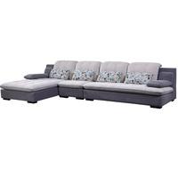 全友家居布艺沙发客厅小户型现代简约三人位布沙发组合家具102137