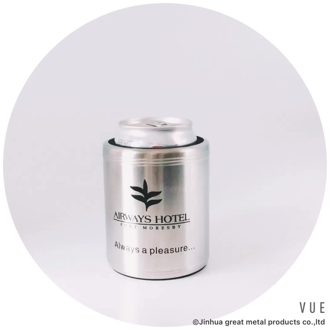 Stainless Steel Can Cooler ~ Stainless steel can shaped holder beer cooler buy
