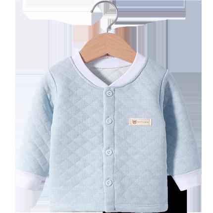 保暖上衣单件打底纯棉三层夹丝秋衣