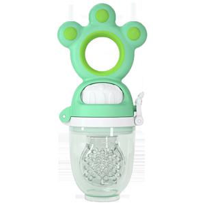 澳乐婴幼儿咬咬牙胶乐玩具宝宝磨牙果蔬硅胶袋可推进水果辅食神器