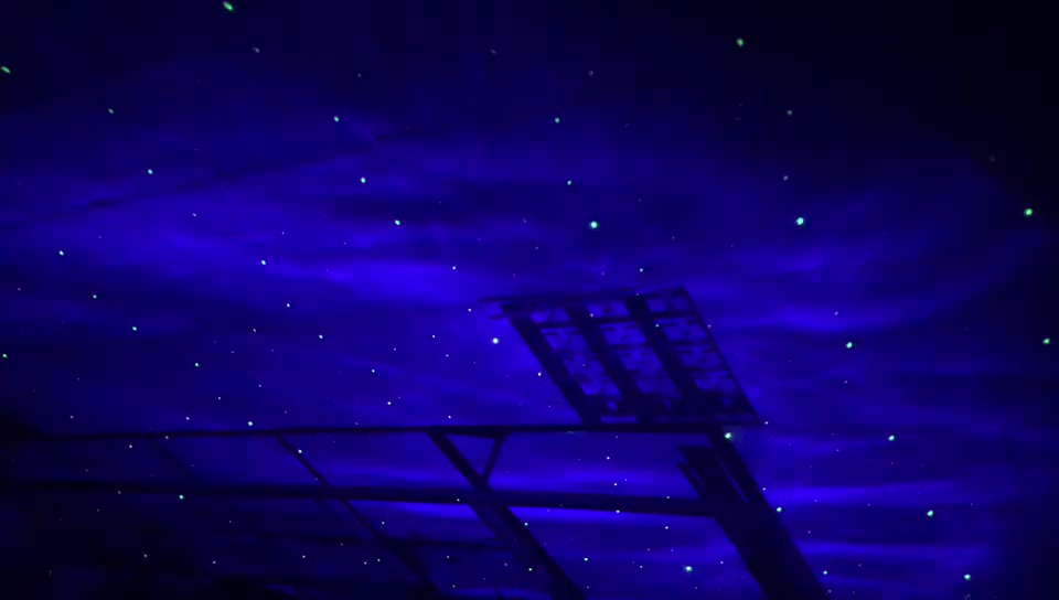 2017 Romantic Starry Sky Home Bedroom star cloud floor garden laser +LED light
