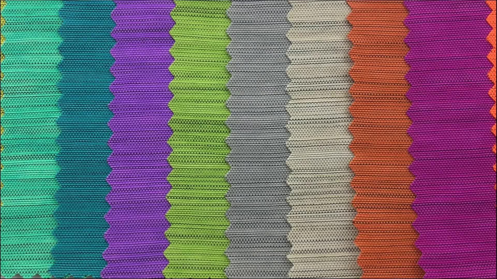 Wholesale yarn dyed 420D stone washed wrinkle nylon fabric with pu coated