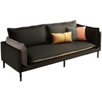 意式轻奢小户型客厅科技布皮艺沙发评价好不好