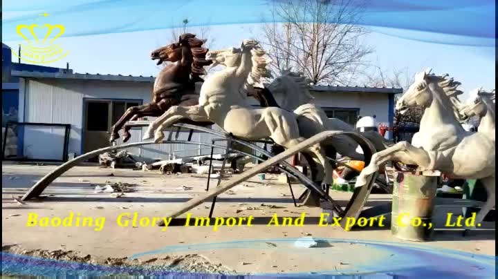 Outdoor home & garden decor China suppliers fiberglass sculpture New product Life Size horse statues