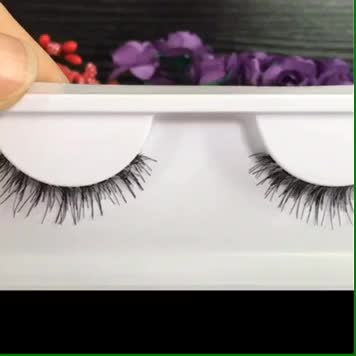 High quality handmade 3D human hair eyelashes wholesale private label 3d lashes
