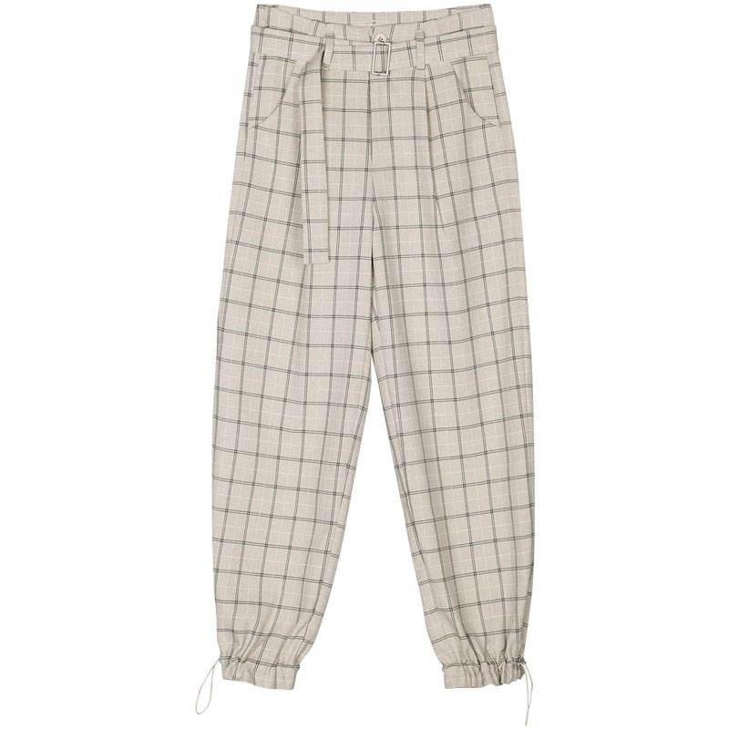 夏季2021年新款格子裤宽松裤子质量好不好