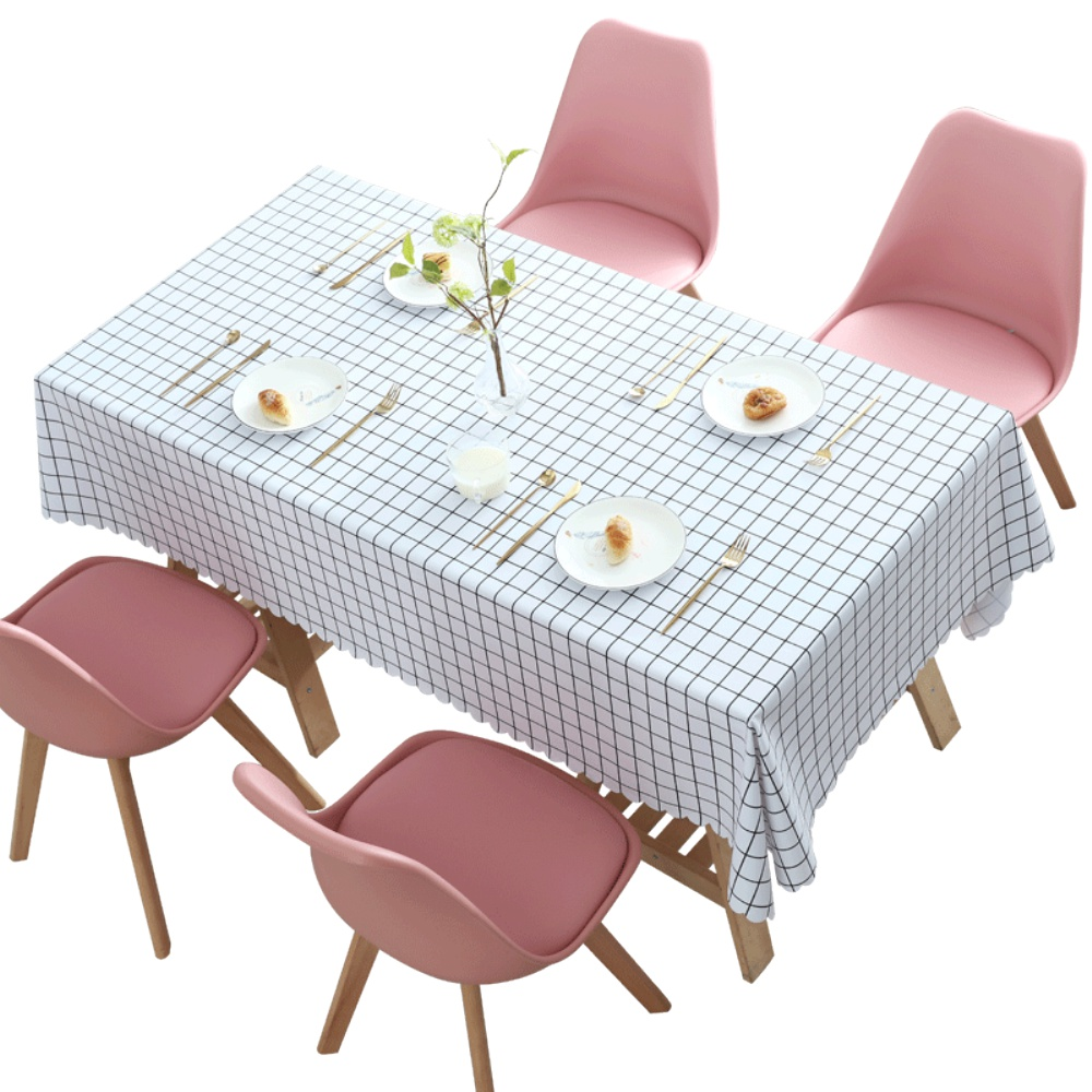少女心格子桌布红桌布防水方格网评价如何