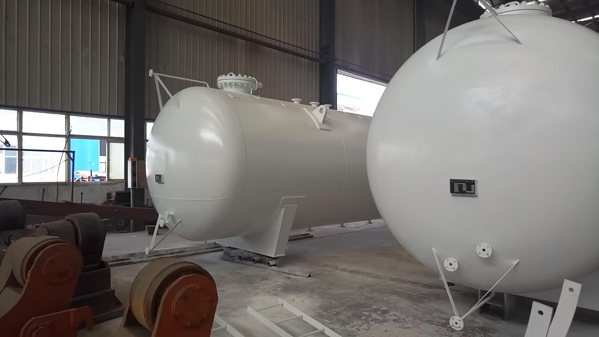 Q345R GB150 1 ~ 200M3 केन्या के लिए एलपीजी भंडारण टैंक