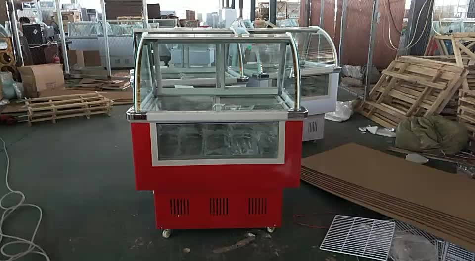 Hot Sale CE Approved Commercial Automatic gelato ice cream display freezer / lolly showcase /popsicle refrigerator