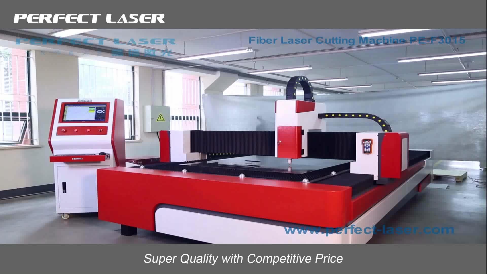 Perfect Laser PE-F500-3015 500W Carbon Steel Metal Tube CNC Fiber Laser Cutting Machine For Sale