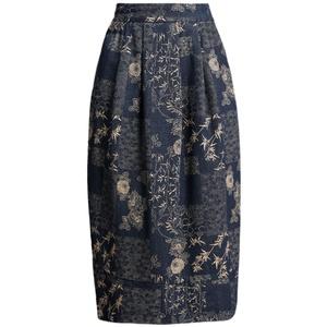 牛仔女春花苞裙中长款显瘦半身裙