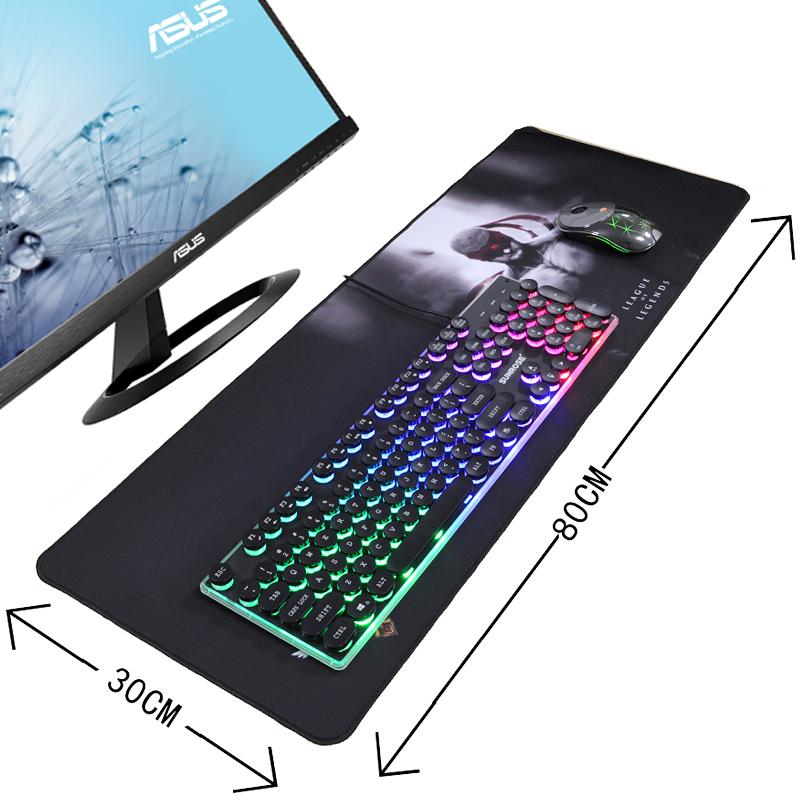 电脑桌面鼠标垫游戏办公家用精密锁边鼠标垫小号加厚键盘垫子
