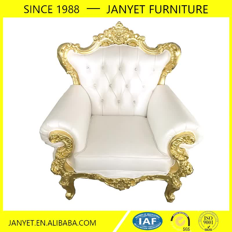Whole Antique Carved Gold Trim White Leather Furniture Living Room Sofa
