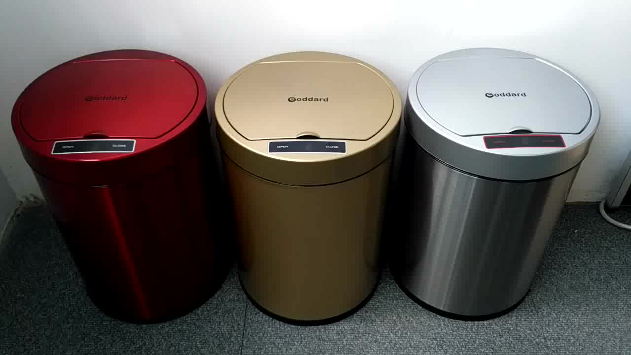 Double Automatic Car Dustbin Small Kitchen Sensor Trash