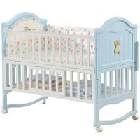 婴爱实木欧式多功能摇篮床拼接大床用后评测