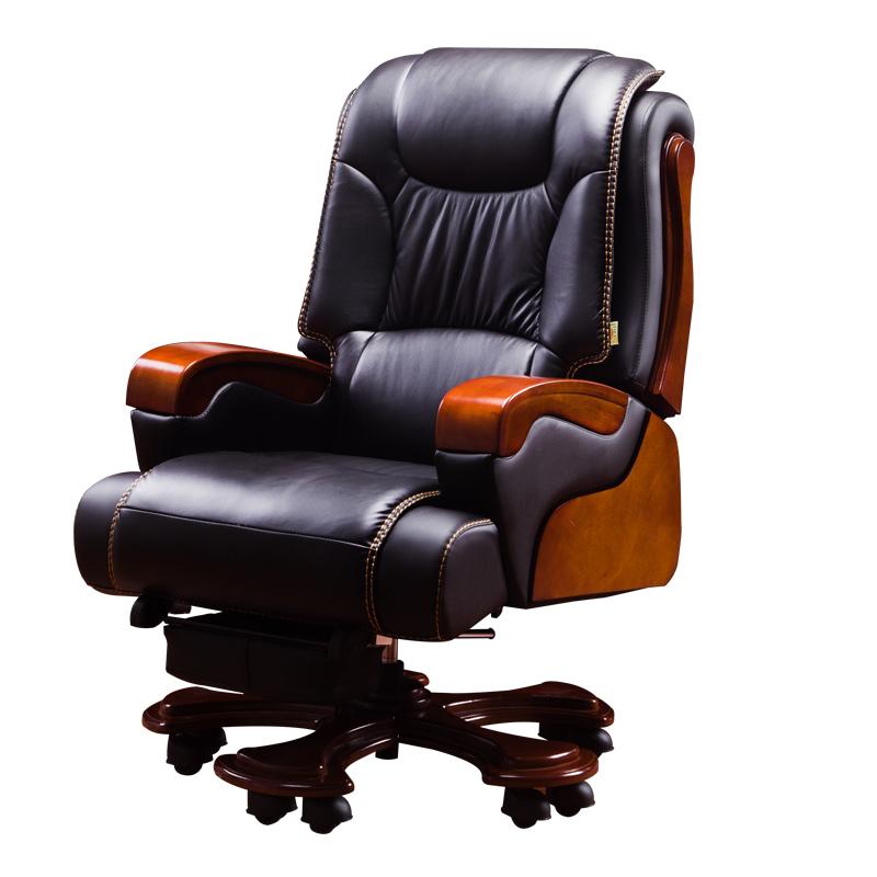 家用真皮可躺商务办公椅子转老板椅评价好不好