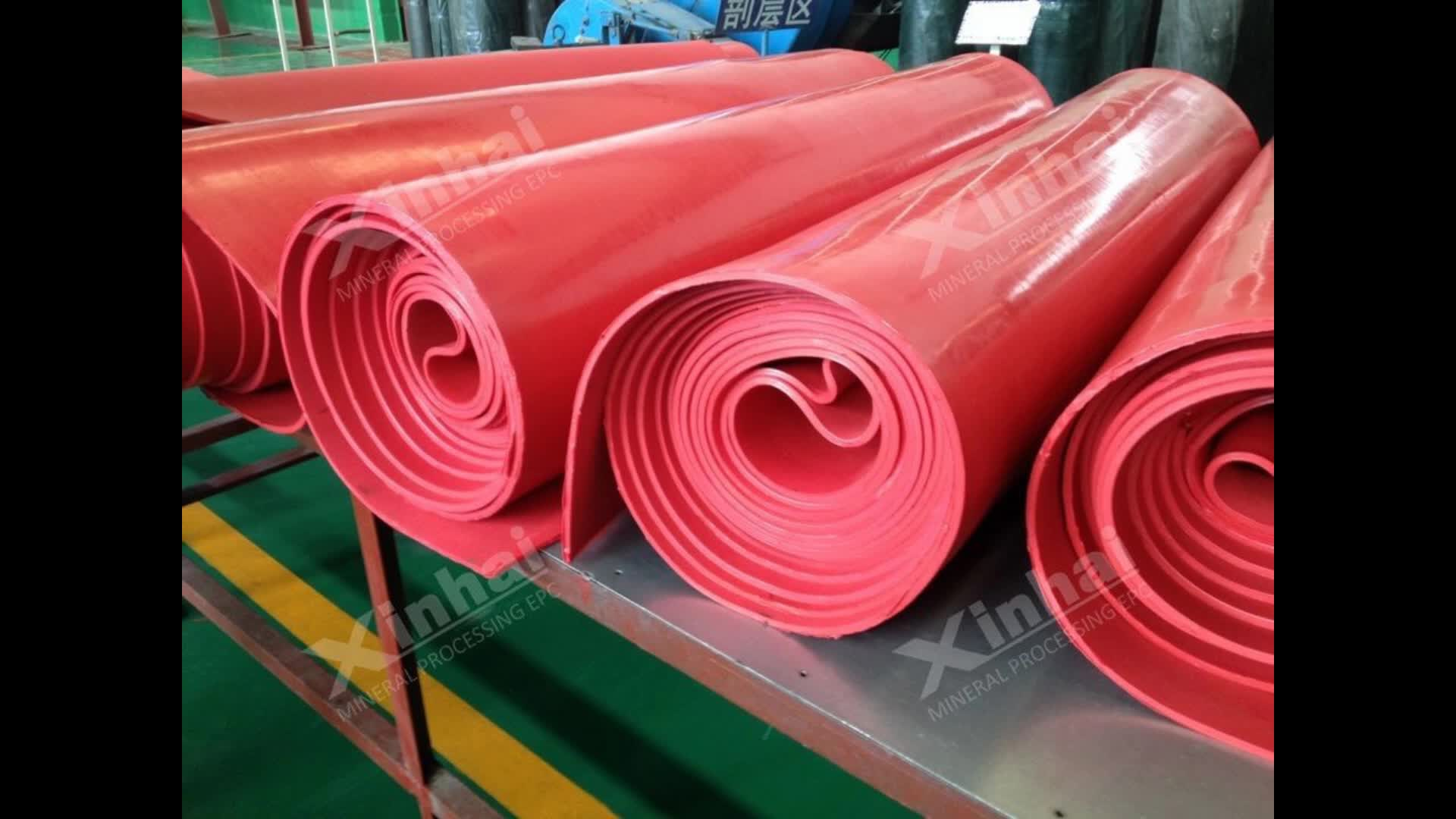 Abrasive Resistant Natural Latex Rubber Sheet For Mining