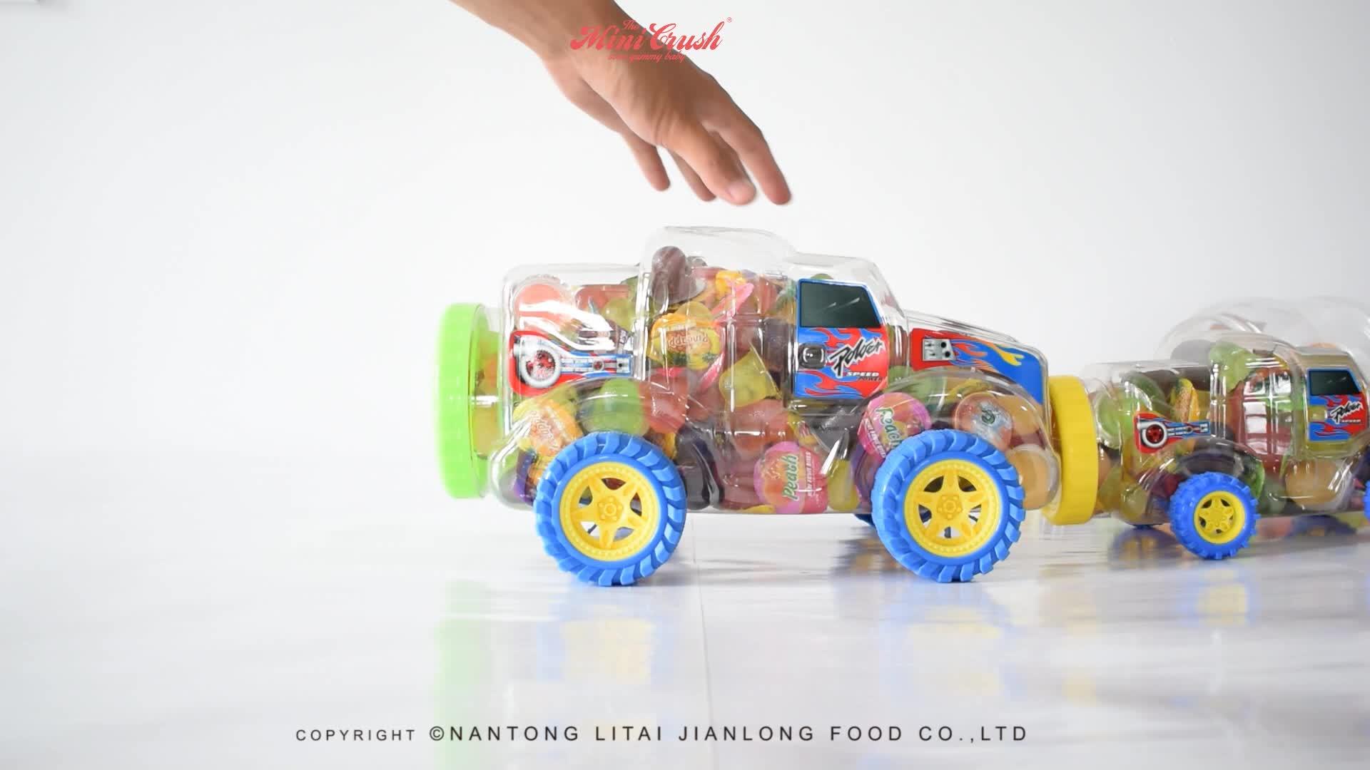 250pcs Big Truck Car Taiwan snack jelly food