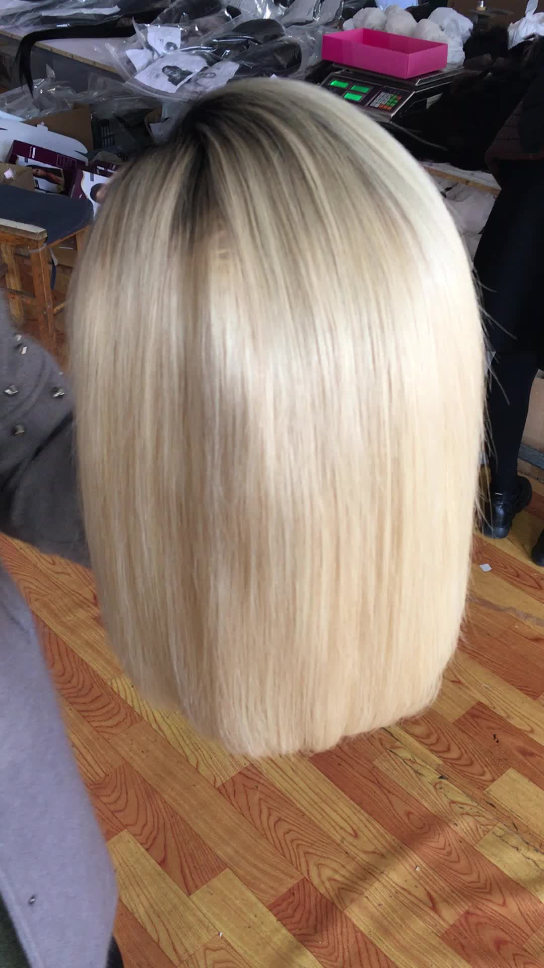 Human Hair Wigs Blonde Lace Front Short Human Hair Wigs 1b 613 Full Lace Wig