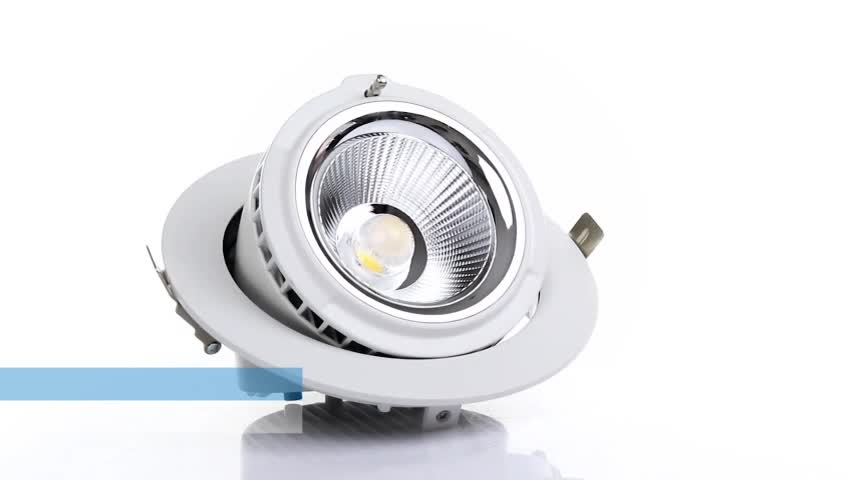 Obals led down light with white housing Retrofit UL rated 20w 28w 38w 48w trimless 4 inch wide beam angle led downlight