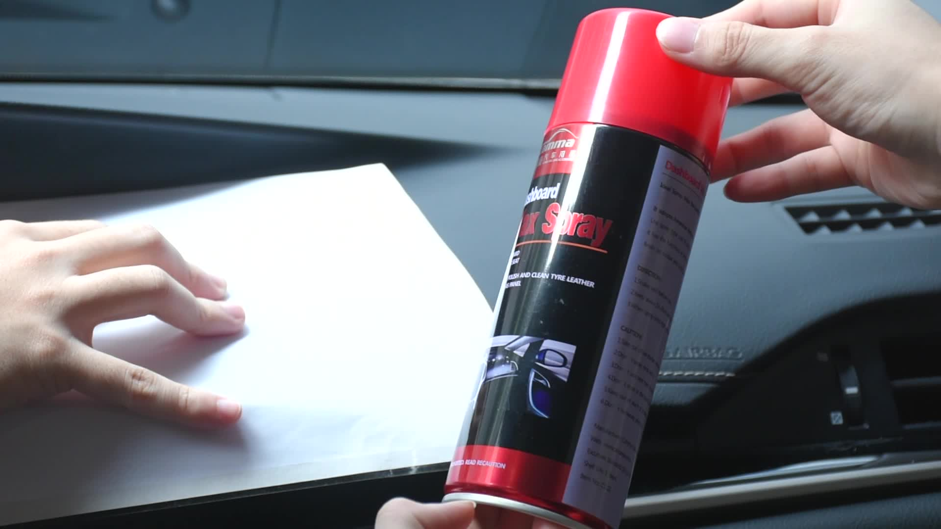 China Car Care Products Manufacturer car cleaner polish and shine dashboard and leather spray wax car polish