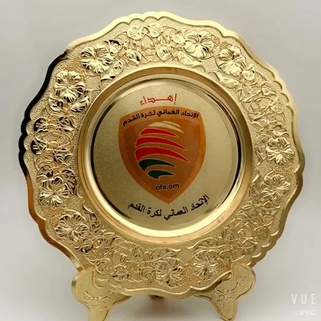 Gratis schimmel custom logo 3d souvenir award plaat custom print logo souvenir metalen plaat in voorraad