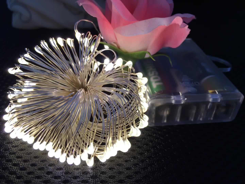 TOPREX DECOR 5 M 50 LED 3AA Batterie Betrieben Mini Kupfer Draht String Fairy Licht für Weihnachten Urlaub Partei Dekoration