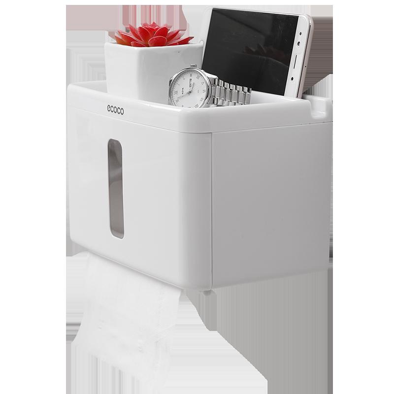 卫生纸置物架卫生间厕所纸巾盒免打孔创意抽纸盒卷纸筒防水厕纸盒