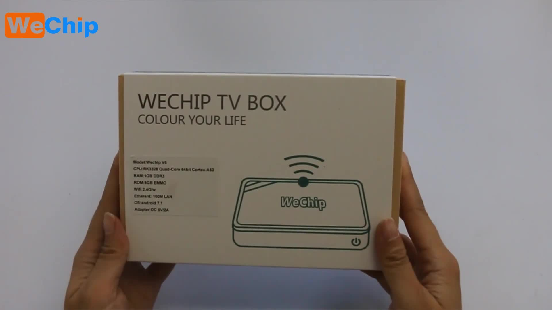 OS updated to android 8.1 Internet tv box Wechip v6 with RK3328 Ethernet 10/100 WiFi 2.4G KD17.1 64 bit set top box