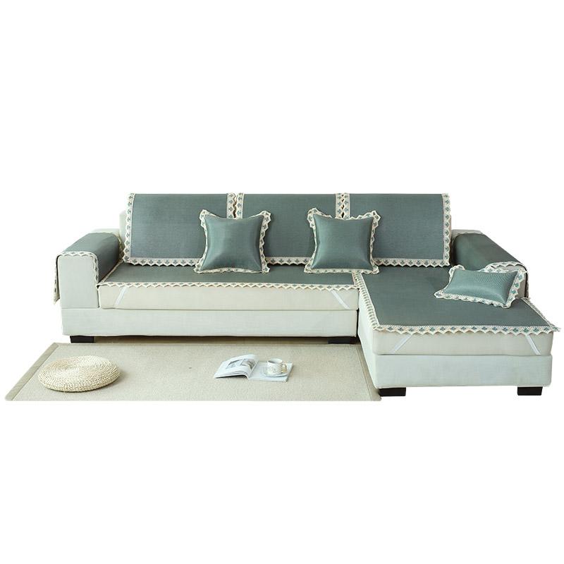 夏季欧式防滑坐垫子布艺皮罩沙发垫评价如何